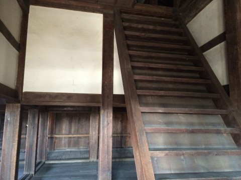 千貫櫓内。こちらも2階へは上がれません