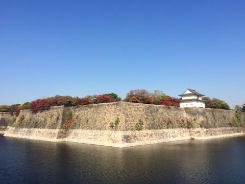 やっぱり大阪城の石垣もすごい